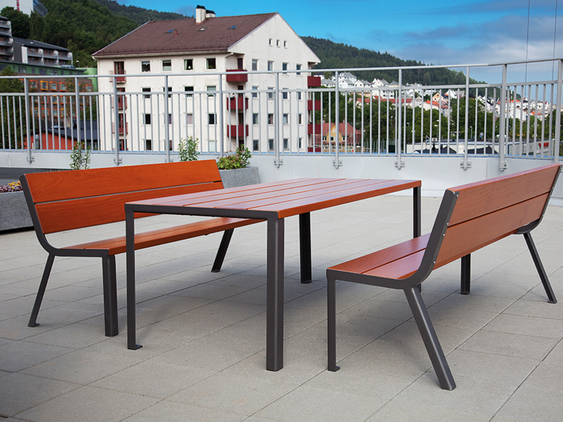 Optima- Table haute 10 3080 - Banc 3 places - Norvège