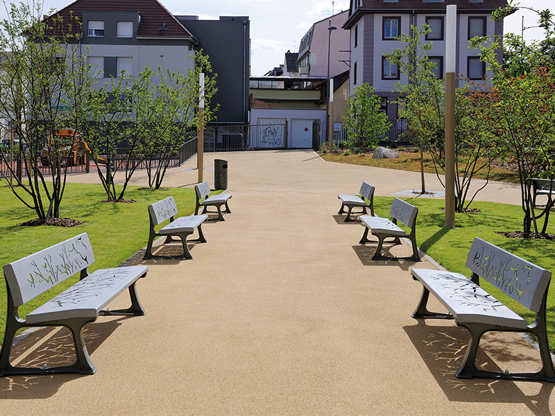 Confort 2 - Banc 3 places Nature - 13 0003 - Colmar