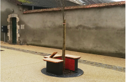 2 new Refuge benches in Châteauroux (France)