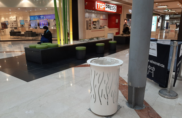 Sineu Graff in shopping malls too!