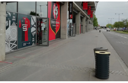 Contemporary and Easy litter bins near the Rennes stadium (France)
